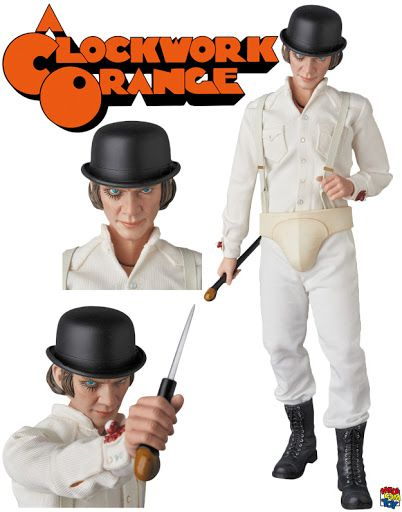 alex clockwork orange rah action figure medicom laranja  alex clockwork orange rah action figure medicom 1 6 laranja mecanica de stanley kubrick