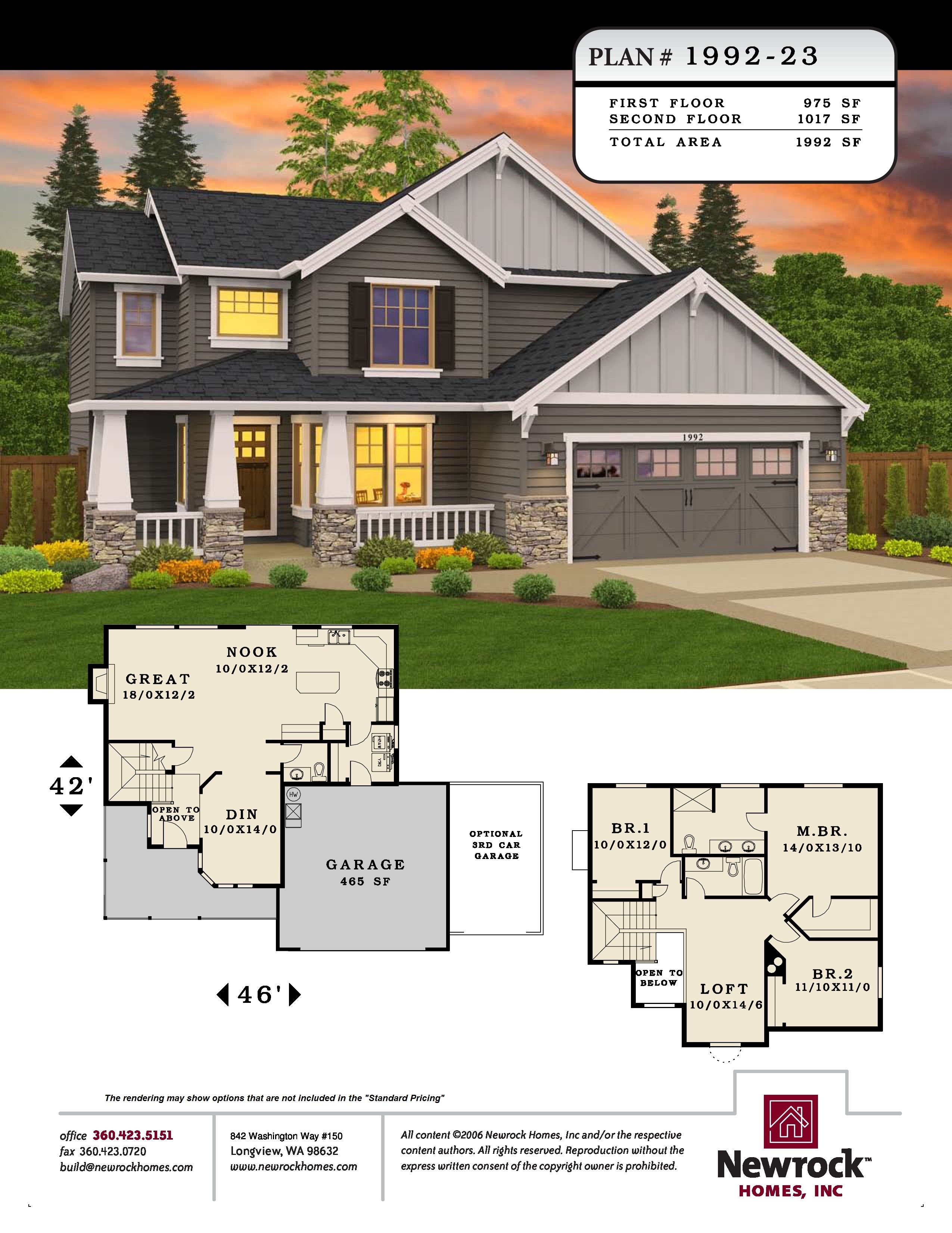 Plan 1992 23 Newrock Homes Family House Plans Custom Home Builders House Plans