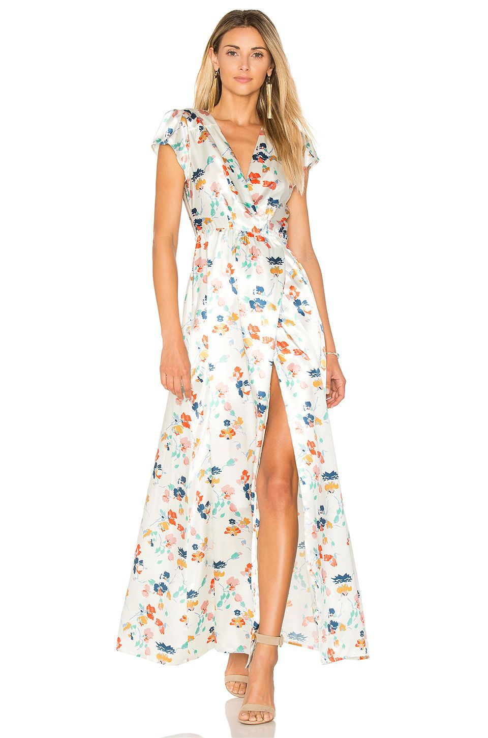 Tularosa Sid Wrap Dress In Ivory Spring Dresses Day Outfits