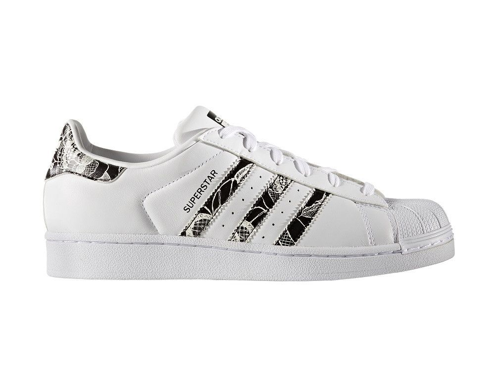 Superstar Pattern Womens White Black – West Brothers