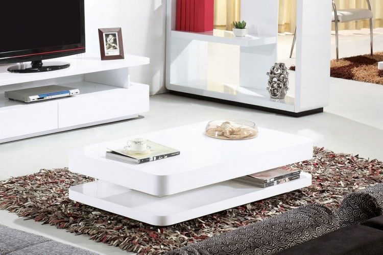 Courbe High White Gloss Modern Coffee Table By MODE Designs  Designer Style