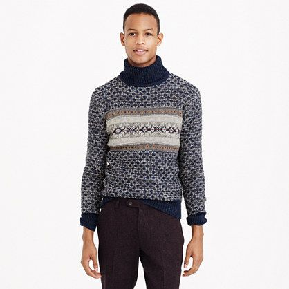 J.Crew - Donegal wool Fair Isle turtleneck sweater | Gifting Ideas ...