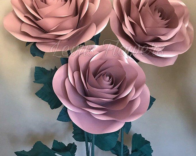 Giant Paper Flowers - Paper Flowers With Stems - Large Paper Flowers - Stand With Flowers - Flowers Decor - Big Paper Roses #giantpaperflowers