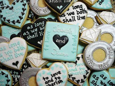 wedding vow engagement cookies