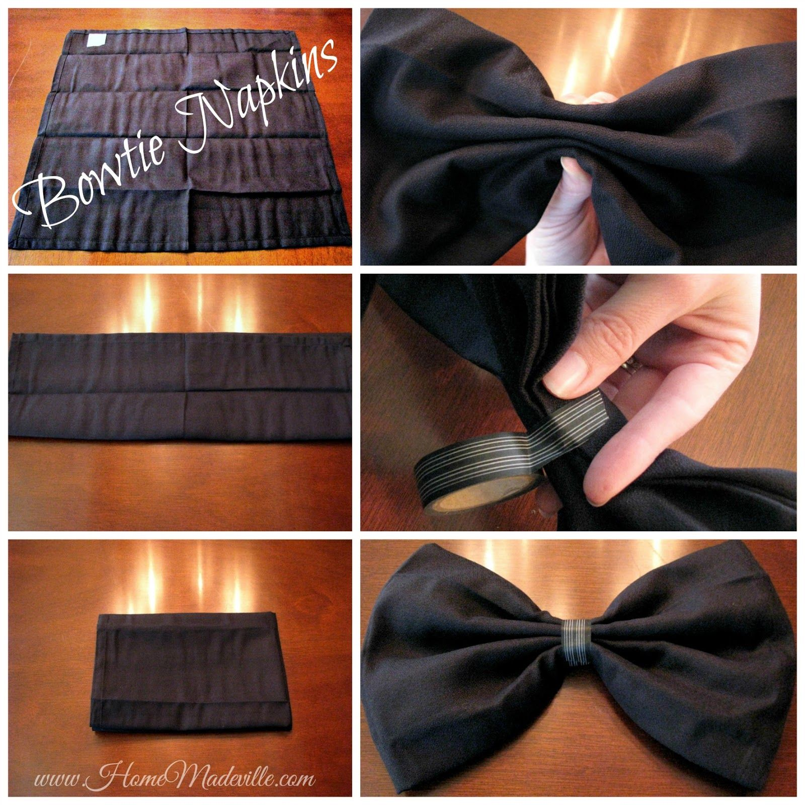 wedding craft lightning how to fold a bowtie napkin