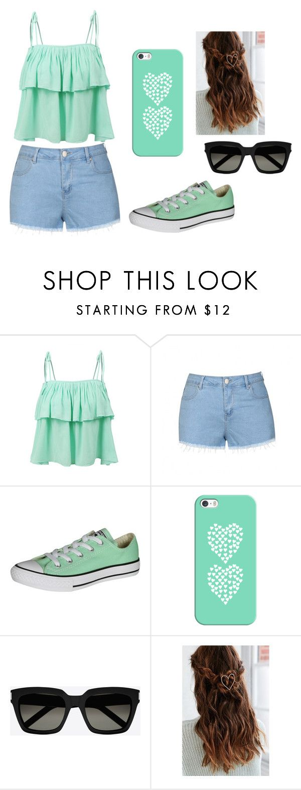 """""""ewfrvg7y89e"""" by katniss-everdeen-578 ❤ liked on Polyvore featuring LE3NO, Ally Fashion, Converse, Casetify, Yves Saint Laurent and Urban Outfitters"""