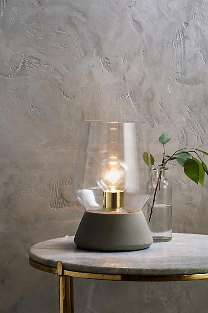 Faceted Glass Table Lamp Anthropologie
