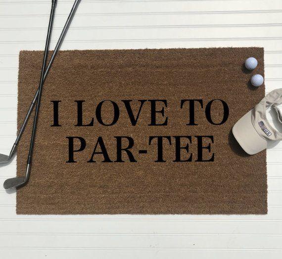 I Love To Par Tee/golfing Doormat
