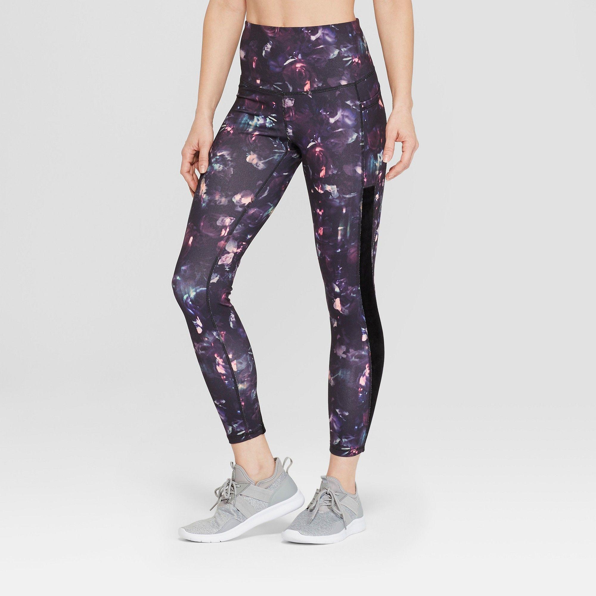 961b82728bbc45 Women's Floral Print Studio High-Waisted Leggings 25 - C9 Champion Black Xxl
