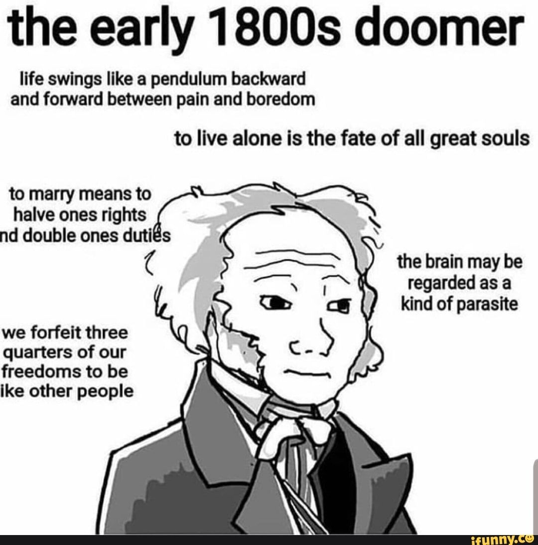 The Early 18003 Doomer Life Swings Like A Pendulum Backward And