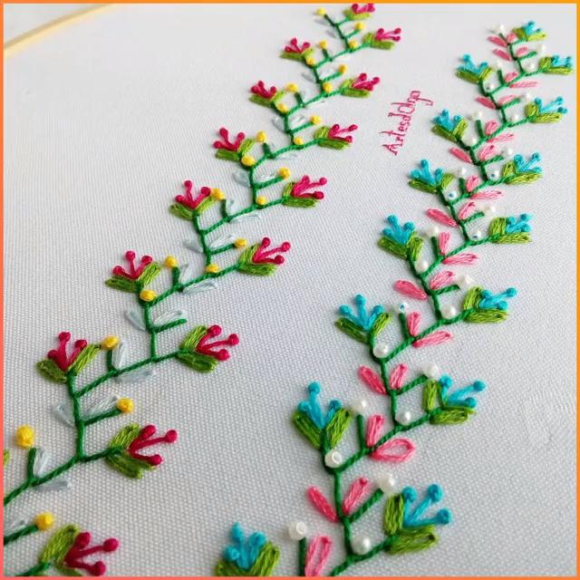 Bordado a Mano: Puntadas Decorativas 9 #ribboncrafts