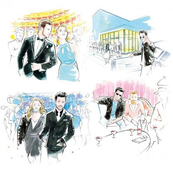 Aquarelle : Hogan - Illustrations pour le lookbook Automne-Hiver 2014 par Isaac Bonan