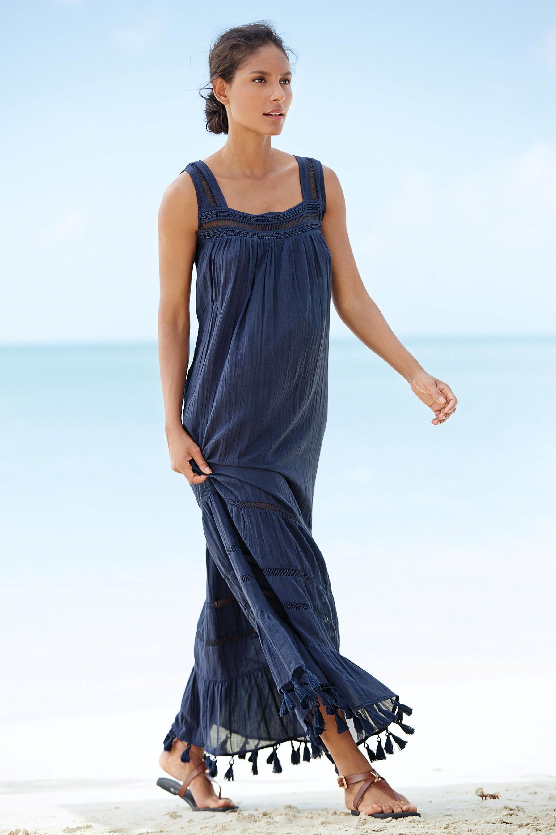 buy navy pom pom maxi dress online today at next