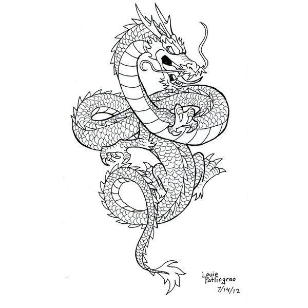 Shenlong from LouBrication about deviantART chinese dragon tattoo