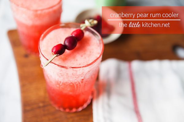 Cranberry Pear Rum Cooler Recipe The Little Kitchen Cranberry Pear Delicious Drink Recipes Iced Drinks