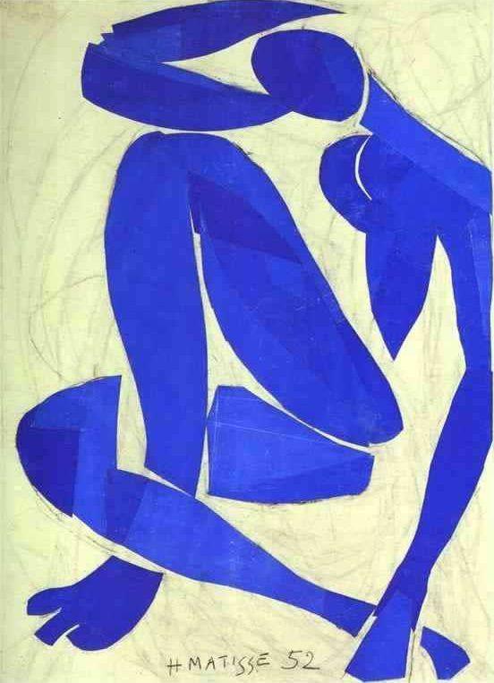 nu bleu iv by henri matisse matisse paintings art nu bleu iv 1952 by henri matisse matisse paintings art