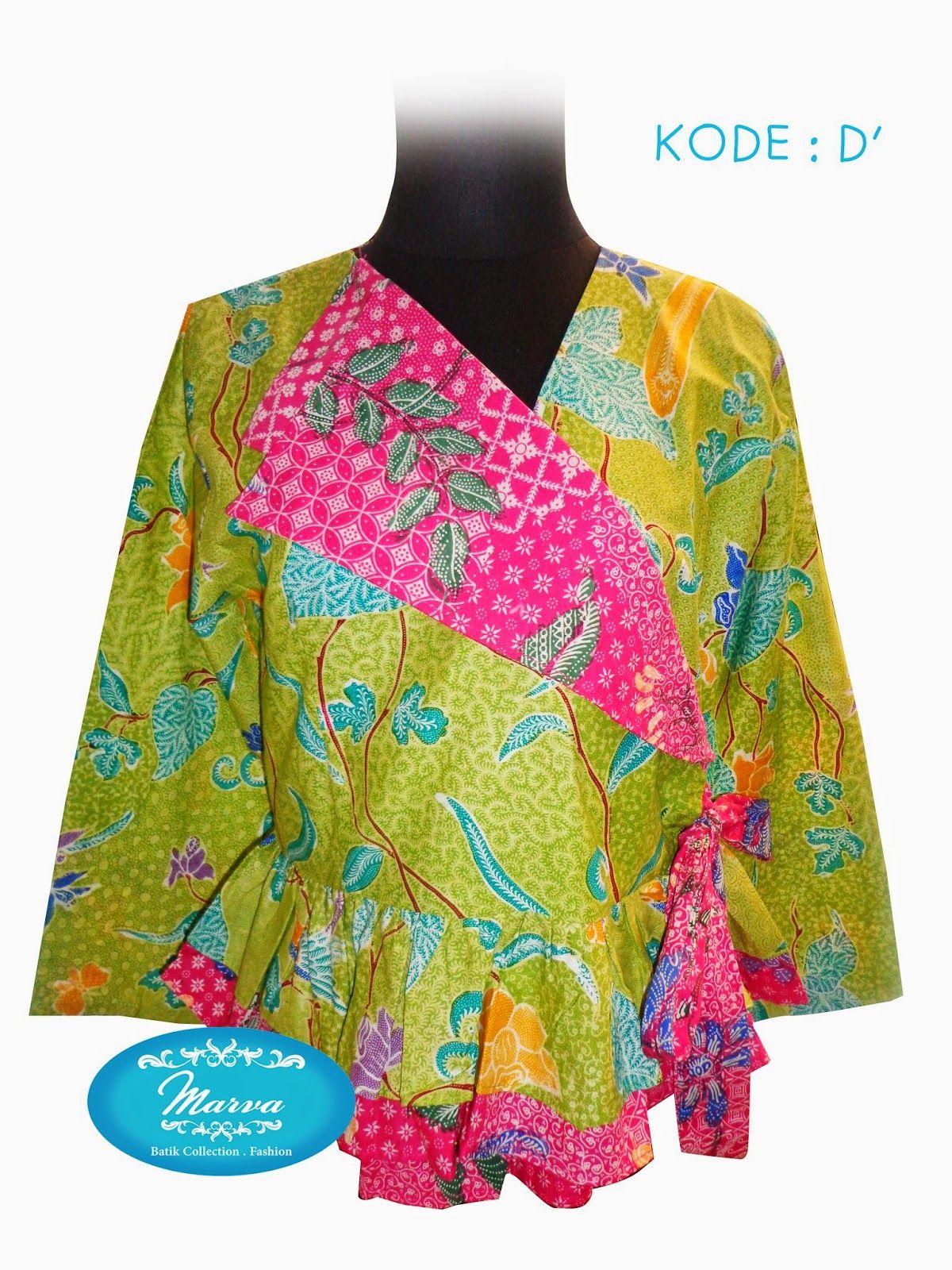 BLOUSE BATIK Kode D' Size M Panjang Baju 56cm Lingkar