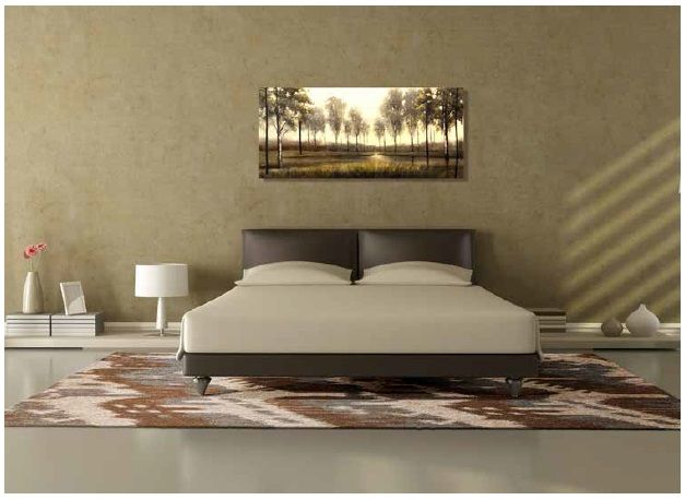 placement of area rugs in bedroom | design ideas 2017-2018 ...