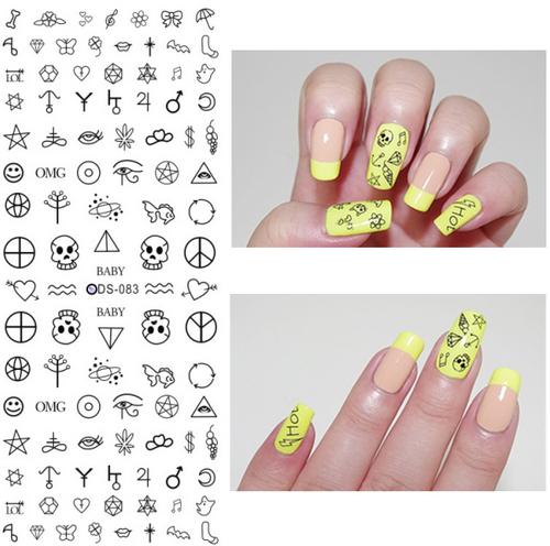 Ru2pcs Ds072 2017 Nail Design Water Transfer Nails Art Sticker Color