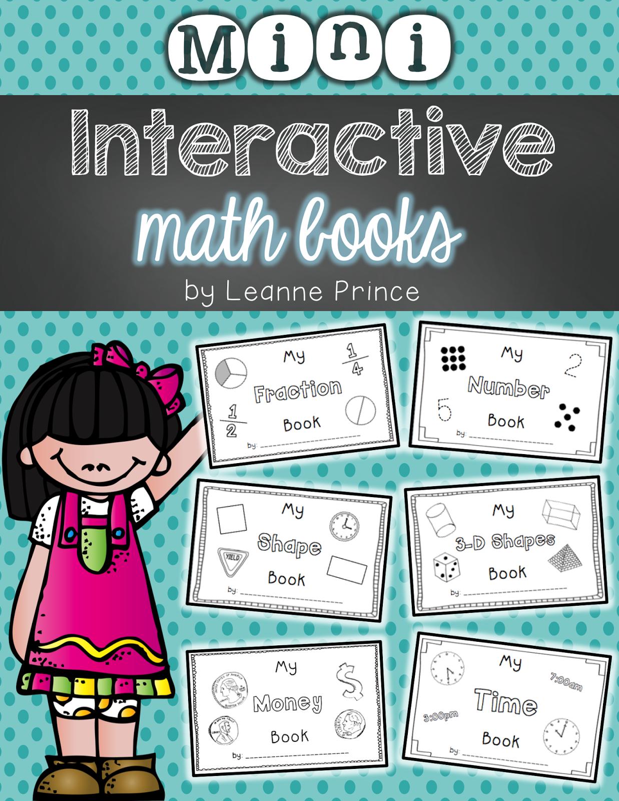 Mini Interactive Math Books