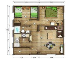 planos de casas modernas de 50 metros cuadrados