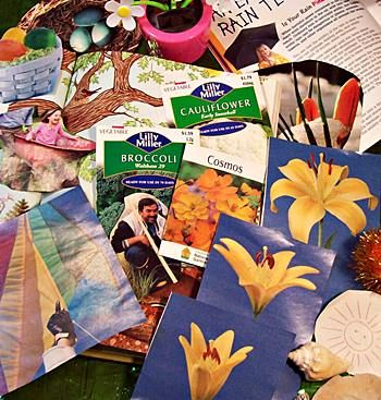 Make a collage of your favorite season.  Spring is mine!