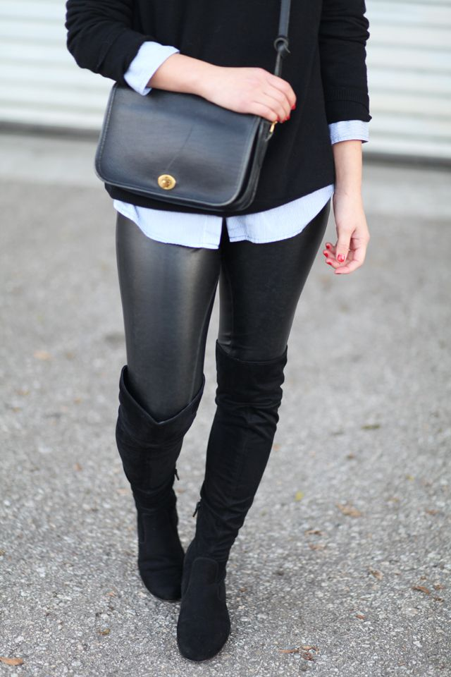 Black Flat Over The Knee Boots My Style Pinterest