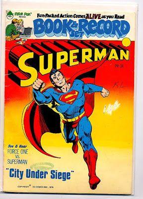 Superman City Under Siege Book And Record Set Superman Book Batman Book Dc Comics Collection