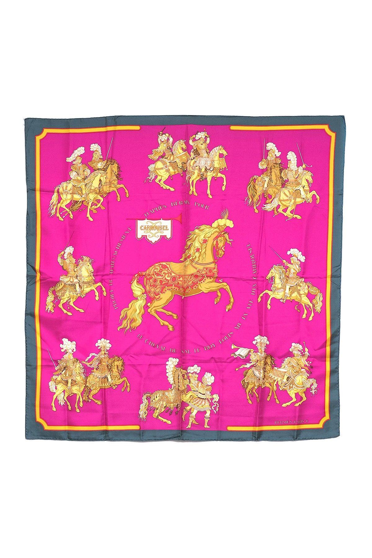 Vintage Hermes Carrousel Silk Scarf