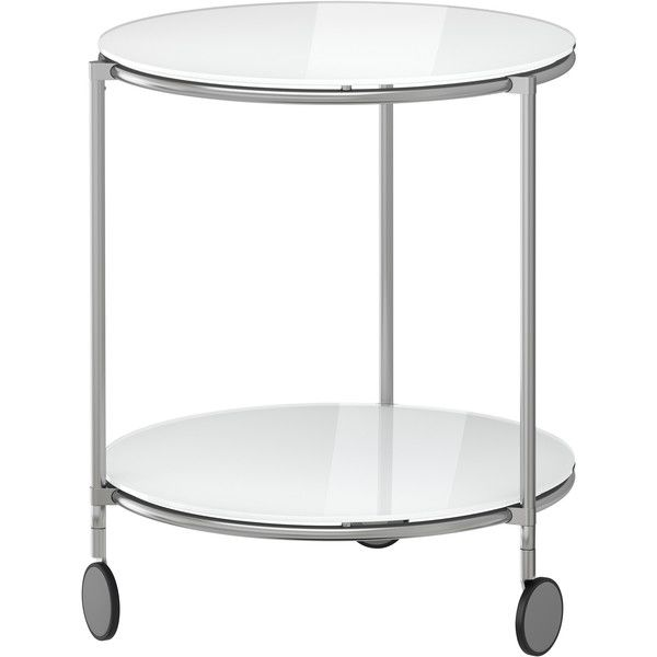 Ikea Strind Side Table White Nickel Plated 70 Liked On