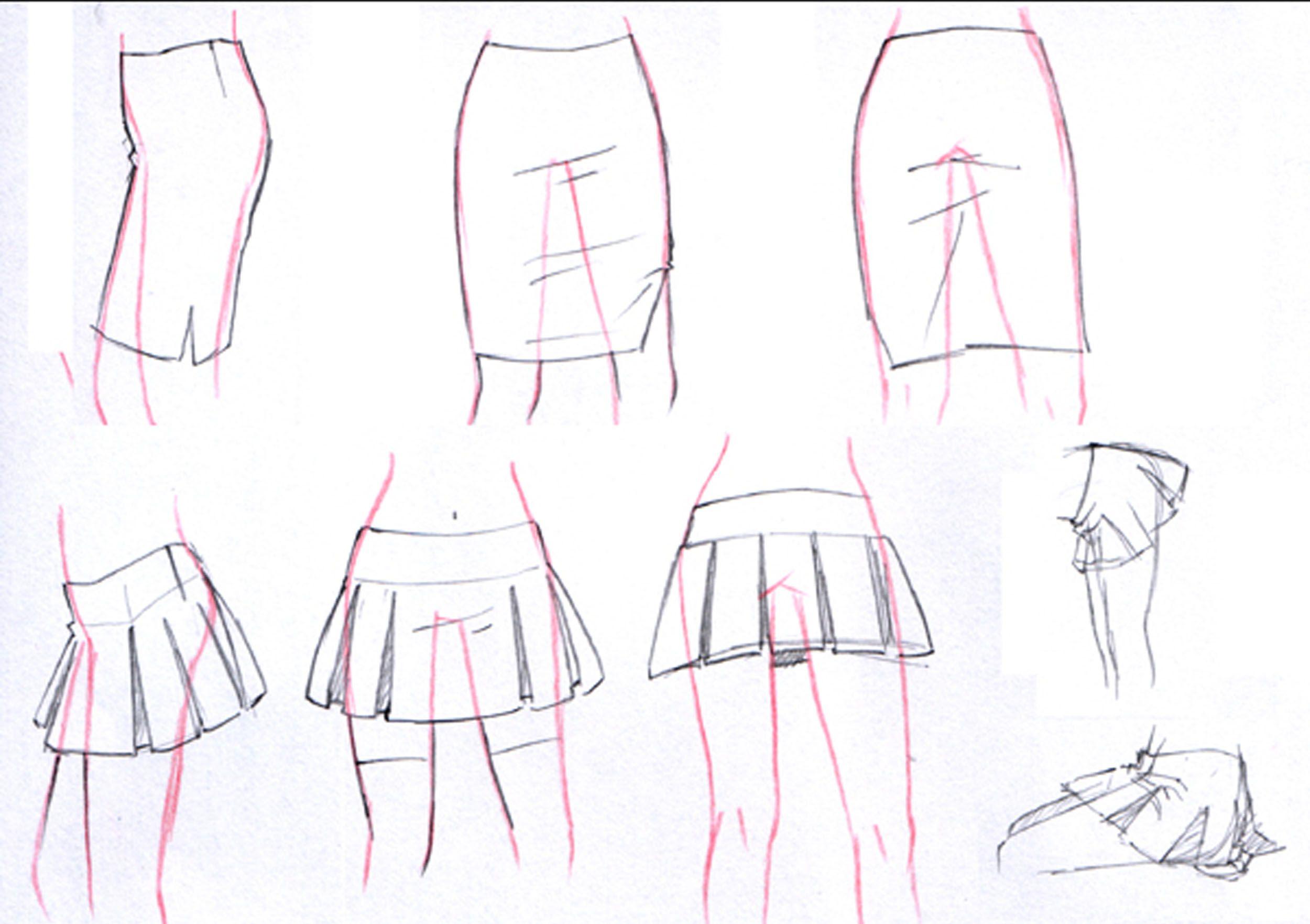 11 Faldas Cortas Drawing Clothes Anime Drawings Manga Drawing