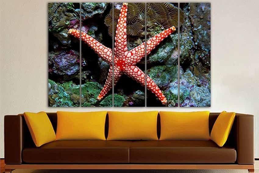 Starfish Print Starfish Canvas Starfish Wall Art Fish Decor Nautical Wall Decor Ocean Art Bathrom Decor Ocean Life Wall Art Animal Decor