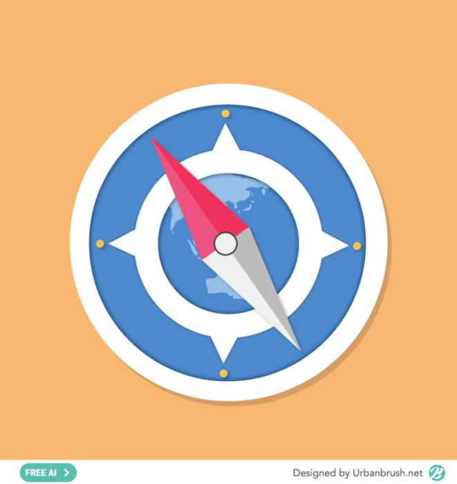 나침반 일러스트 ai 무료다운로드 free compass vector 나침반, 웹디자인, 배너