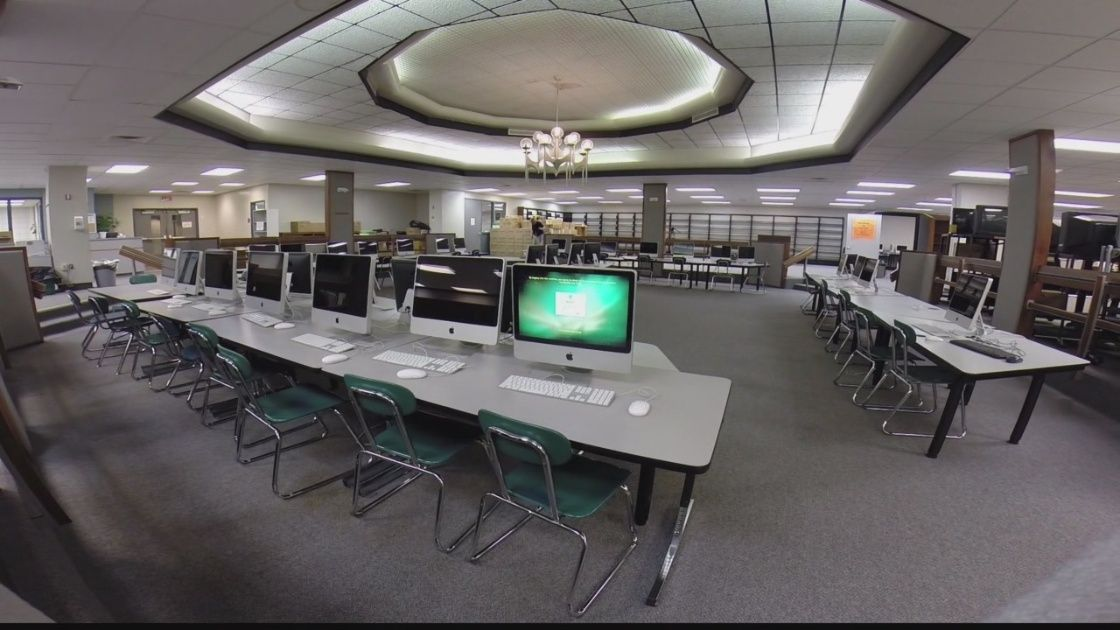 Students at Penn-Trafford High School made 96,000 trips to the library this school year. But as the school makes renovations, school leaders are getting rid of a lot of bookshelves, and the books they held.