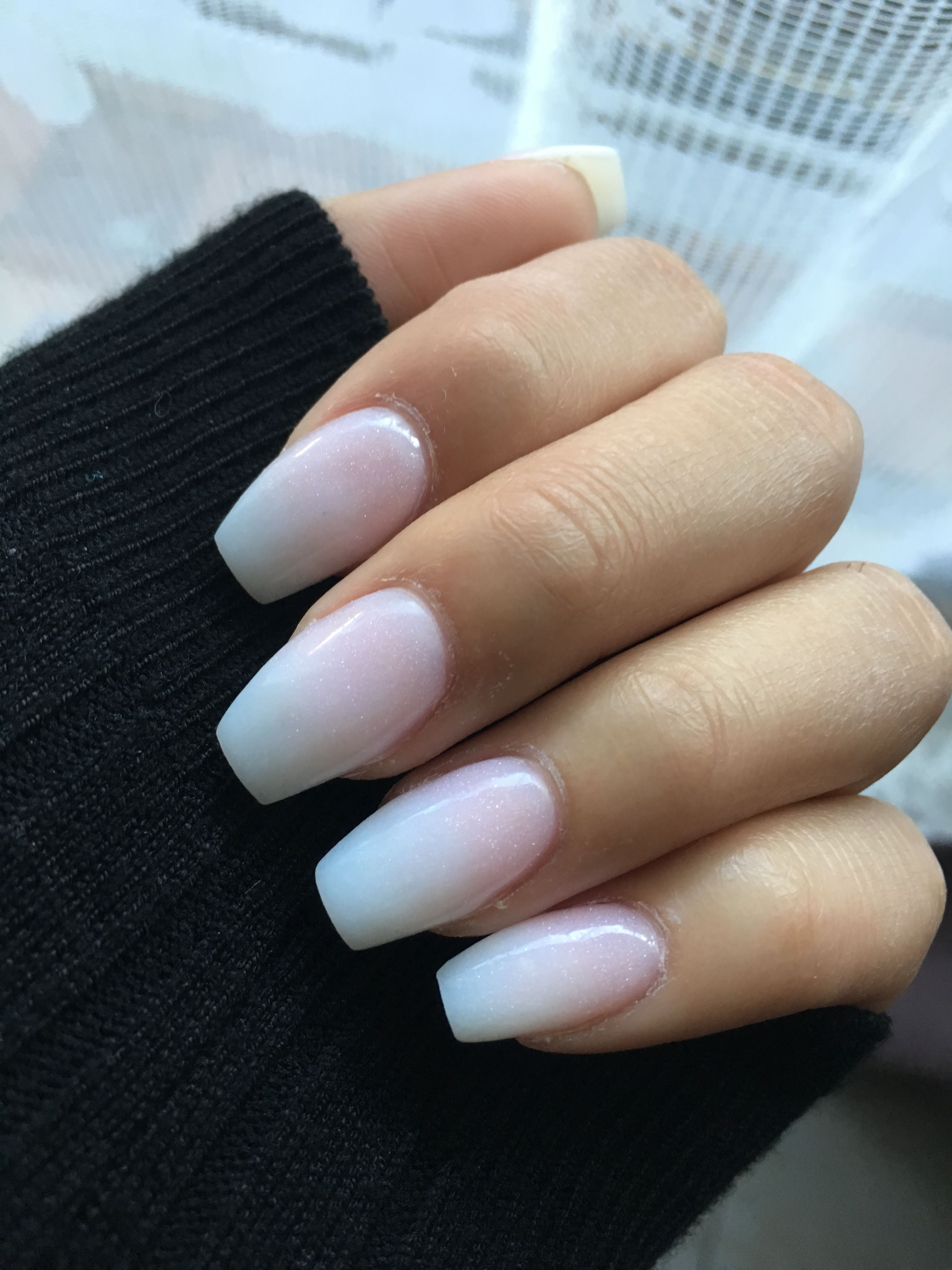 New Nails French Ombre French Fade Paznokcie Makijaz