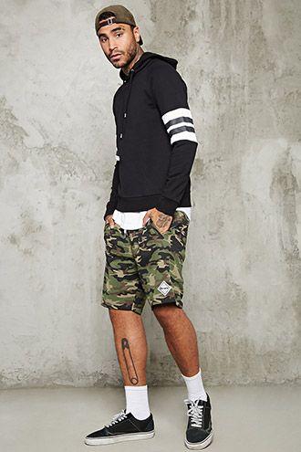 Camo Print Knit Shorts