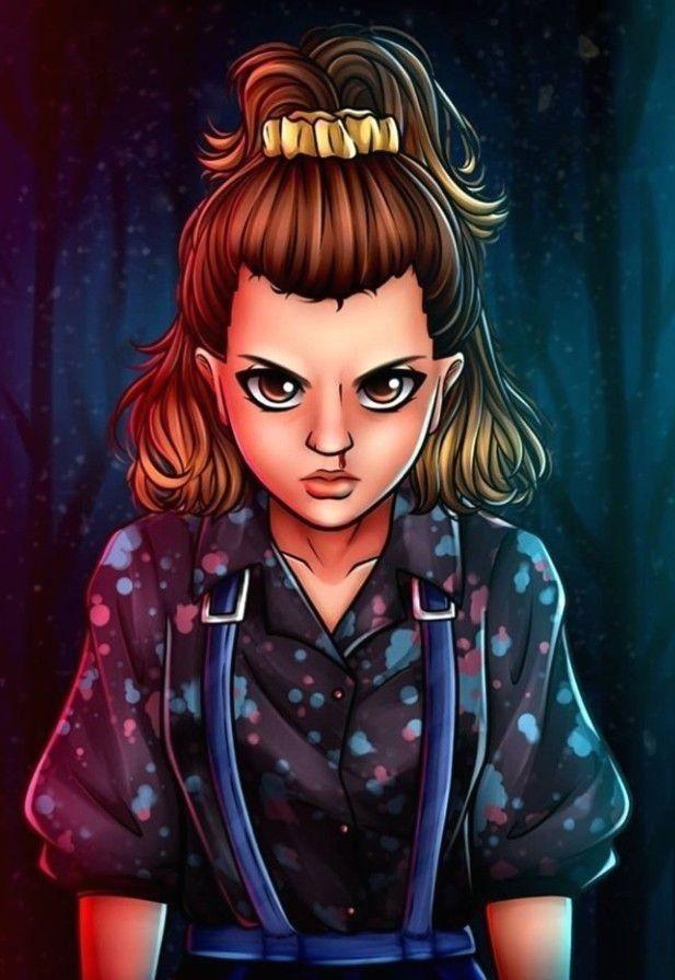 Stranger Things 💚♥️ Eleven ⭐✨  🌙  #eleven #once #strangerthings #serie #comic
