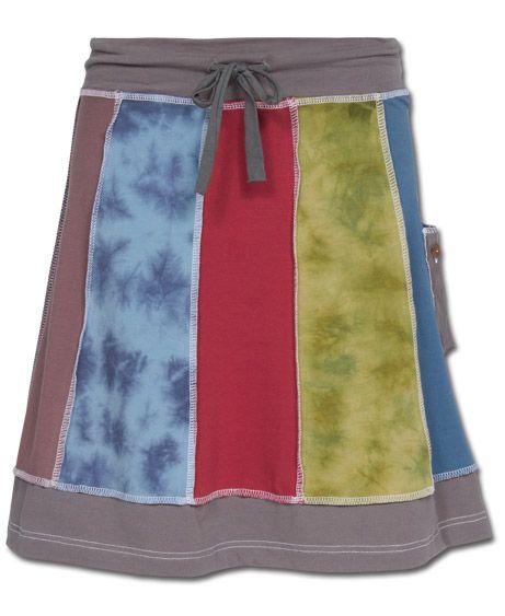 Organic Patchwork Skirt: Soul Flower Clothing