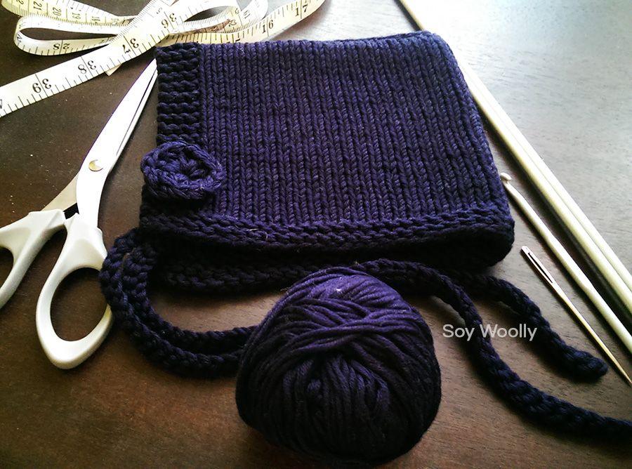 Un patrón muy fácil para tejer una capota o capucha con dos agujas ...