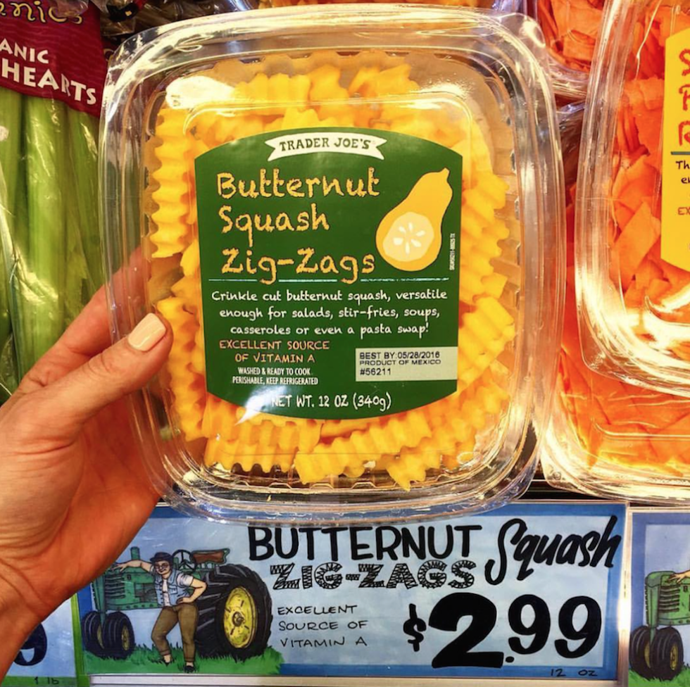 Image result for trader joe's butternut squash zig zags pasta
