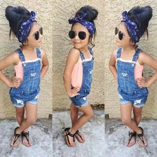 23126a3a9c8 Overall shorts are too cute. Overall shorts are too cute Little Girl Fashion  ...