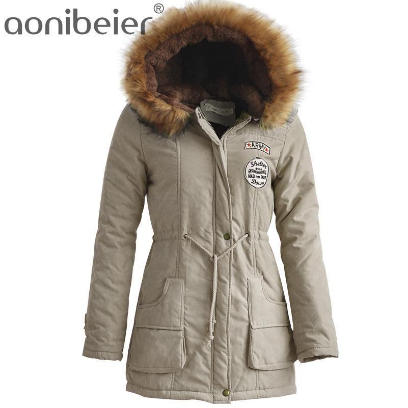 Winter Women Jack... http://vietees.com/products/winter-women-jacket -artificial-fur-collar-hooded-coat-warm-jacket-female-outerwear-casual-long- down-cotton- ...