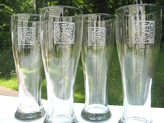 Engraved Glasses - Beer Glass 4 Pack- Engraved Pint Glass - Personalized Groomsmen Gift - Wed... Engraved Glasses - Beer Glass 4 Pack- Engraved Pint Glass - Personalized Groomsmen Gift - Wedding Pa,