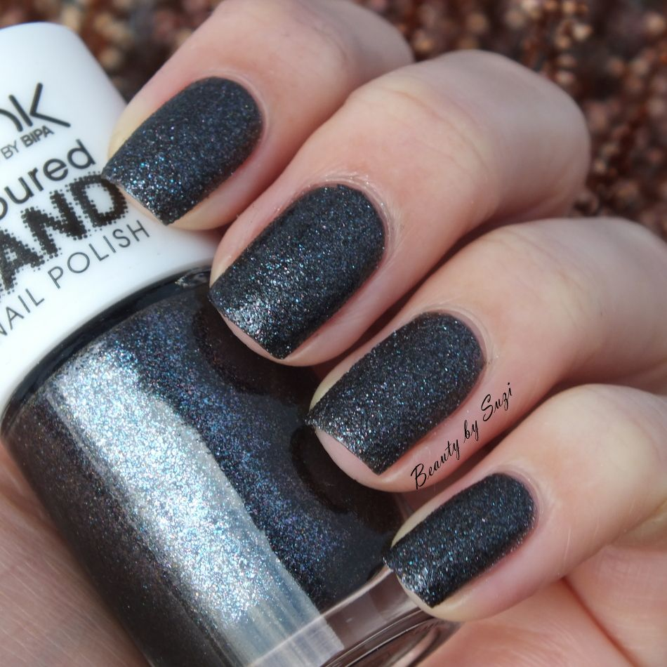 Look by Bipa Coloured Sand Nail Polish, 3 Glitter Dark Grey | Nails ...