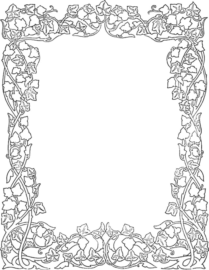 Ivy Border Idei Quilling Traforaj Pirogravura Intarsie Etc