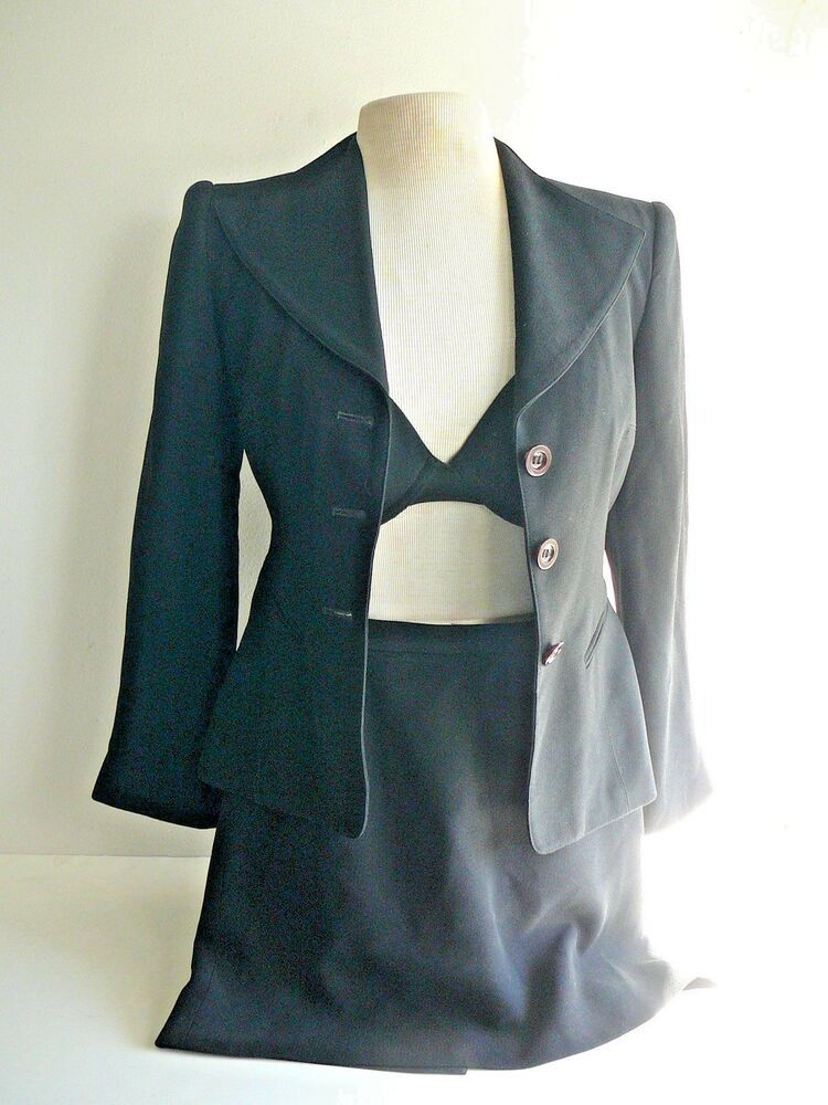 0fa8d0fca6 Women's 2-Pc Crepe Suit Size 2P Black Tailored Blazer Mini-Skirt Lined Bebe  EUC #bebe #2Piece #Career