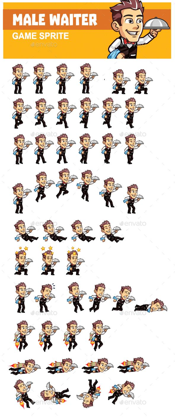 Male Waiter (With images) Game background, Free game