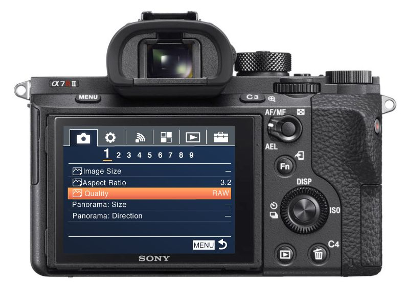Sony a7rii focus modes