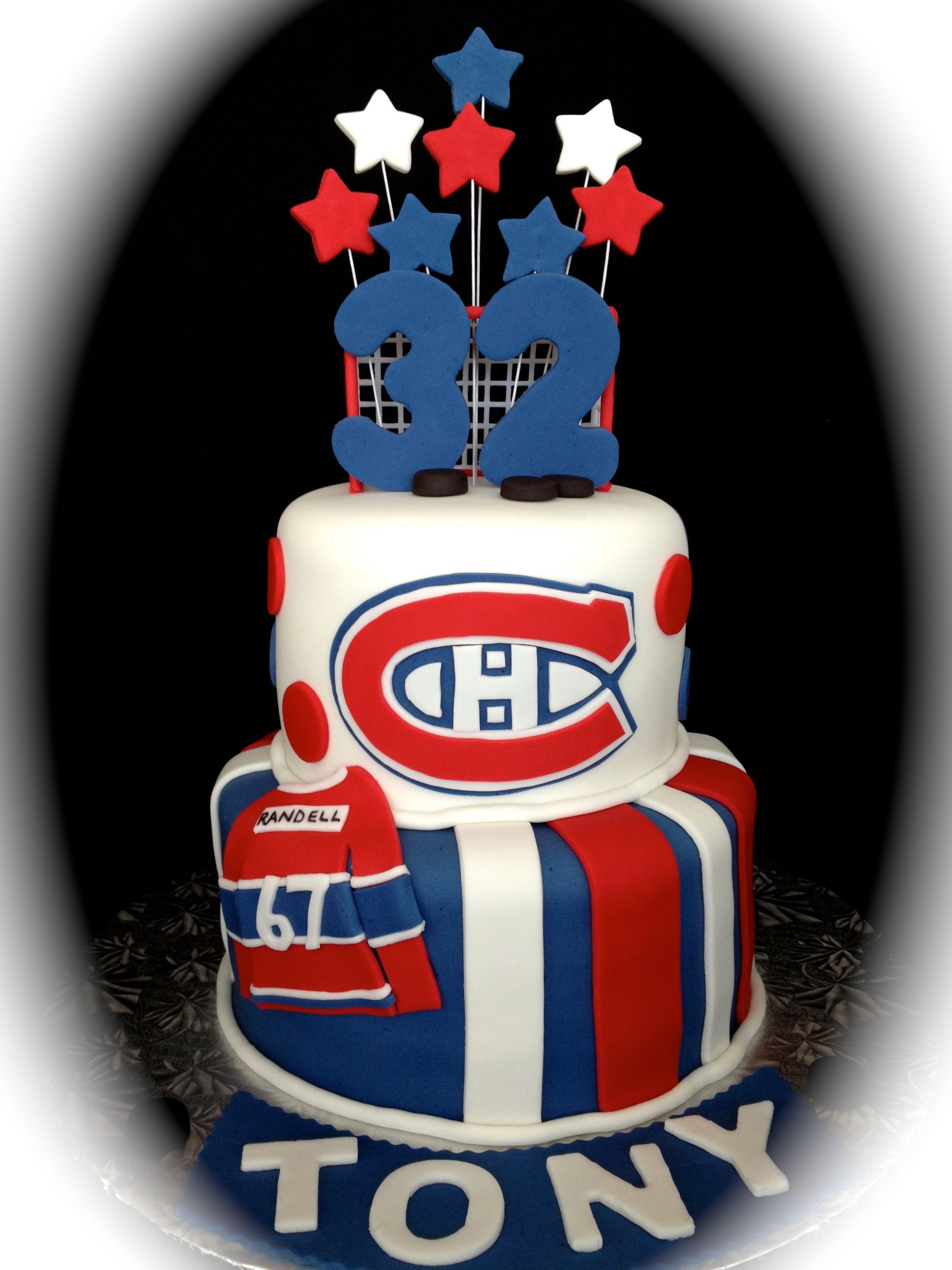 Montreal Canadiens Hockey Cake My style Pinterest Hockey cakes