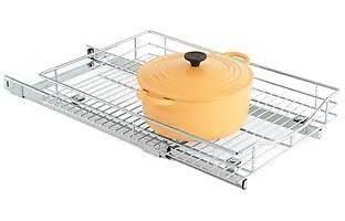 "sliding basket pantry storage 21"" deep 14"" wide"